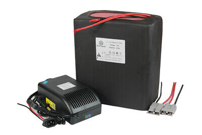 72V 30ah Lithium Ion Battery Pack 5A Charger 2000W Electric Bike Motorcycle BMS