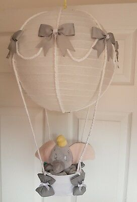 Hot air balloon light shade with a Disney dumbo  looks stunning nursery 💟