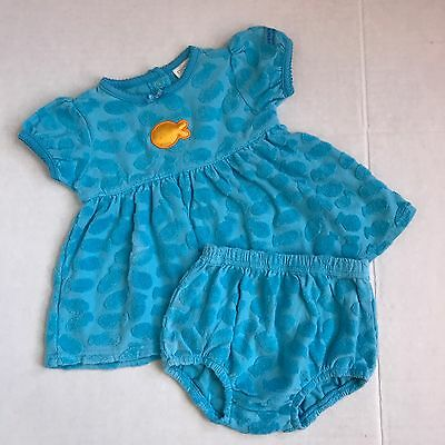 Vintage Carter's Terry Cloth Fish Baby Girl Set Girls Tunic And Bloomer Set