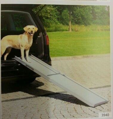 Trixie Aluminium Telescopic Dog Ramp.  Max Weight Approx 120 Kg.