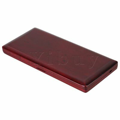 Saxophone Reed Case for 10pcs Reeds Red Wood Color Close Tightly w/ Glass Pane