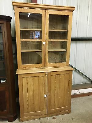 Antique Victorian Pine Cupboard Dresser Display Cafe Kitchen Shop Fine Vintage
