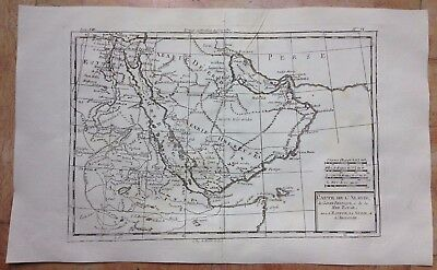 ARABIA EGYPT RED SEA 1780 by RIGOBERT BONNE ANTIQUE COPPER ENGRAVED MAP