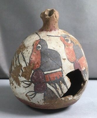 Precolumbian  Nazca Bird Terra Cotta Bowl Ancient