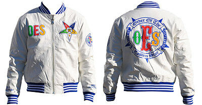 Order of the Eastern Star OES Jacket - White-Size 2XL-New!