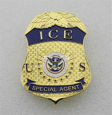 ICE US Special Agent BADGES PIN SEPARATE SECURITY EMBLEM FINE COPPER BREASTPIN