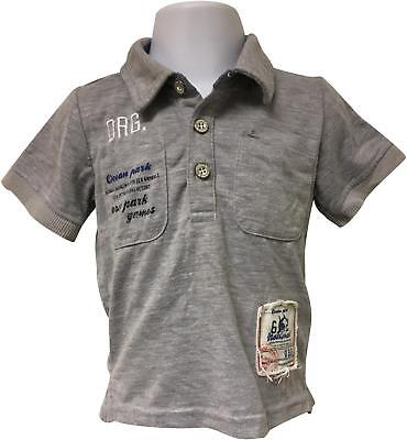 PRE-OWNED Boys Name It Grey Decal Polo Top Size 18-24 Months