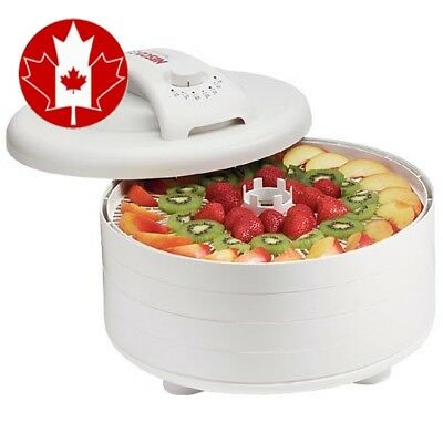 Nesco FD-60 Snackmaster Express 4-Tray Food Dehydrator, White New Updated 2017
