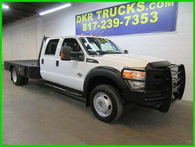 2011 Ford F-450 Flatbed Crew Cab 4x4 1 Owner 11 F450 Crew Cab 4x4 Power Stroke Diesel Service Contractor Flatbed 1 Owner