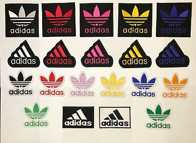 Adidas Logo Embroidered badge Patch iron On Sew On Clothes Jackets Sports New