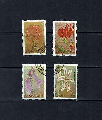 Zambia: 1989 Christmas Flowers, Fine used set