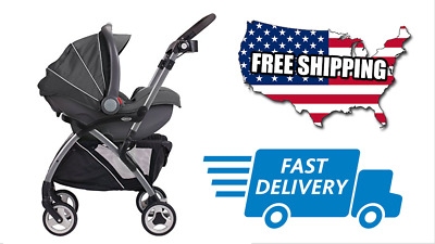 Graco SnugRider Elite Infant Car Seat Frame Stroller, Black Top Quality Safety