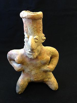Pre-Columbian Jalisco Seated Female Figure ca. 100 BC - 250 AD. FREE SHIPPING