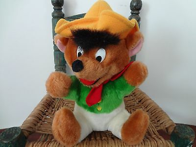 Vintage SPEEDY GONZALES Warner Brothers Mighty Star toy plush 1990 9""