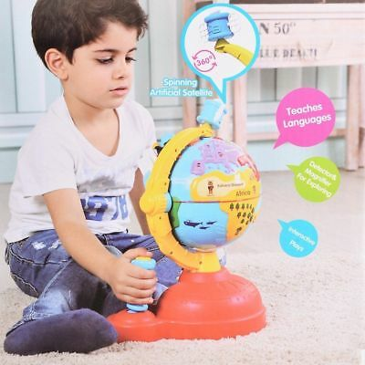 Electronic Study Learn Educational Kids Children World Globe Game Toy XMAS Gift