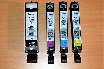 CANON 570 571 EMPTY INK CARTRIDGES GENUINE CANON reduced price