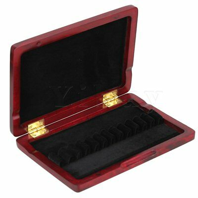 Wooden Oboe Reed Box Case Hold 12 Oboe Reeds Fit for 5mm Width Reeds Red Wood