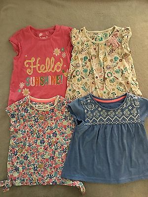 TU Bundle Girls Colourful Short sleeve tops  *4 Tops* 18-24 Months