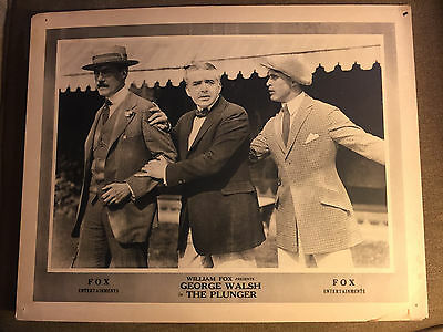 The Plunger 1920 Fox silent lobby card George Walsh
