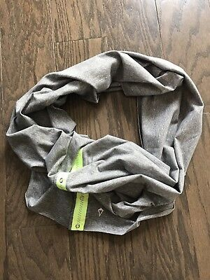 Ivivva by Lululemon Village Chill Gray/Faded Zap Snap Scarf, Vinyasa, One Size