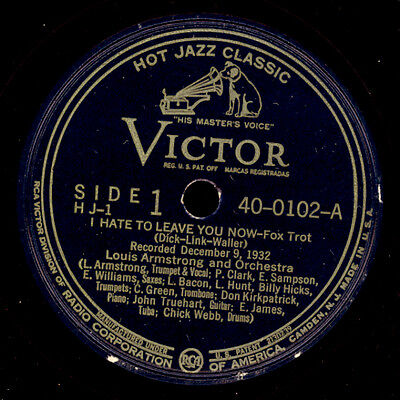 LOUIS ARMSTRONG & HIS ORCHESTRA I hate to leave you now/ ..my Home  78rpm  X2545