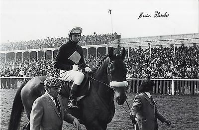 Brian Fletcher winning the 1974 Grand National on Red Rum Signed Photograph.