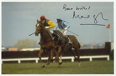Marcus Armytage ' 1990 Grand National Winner on Mr. Frisk ' Signed Photograph.