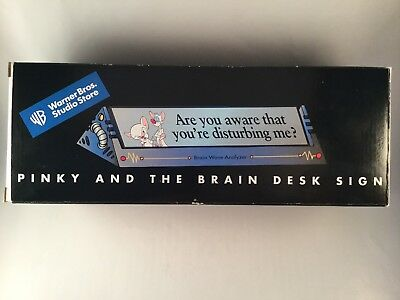 Pinky and the Brain Desk Sign WARNER BROS STUDIO STORE Rare Brain Wave Analyser