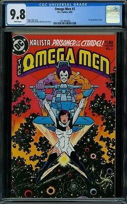 Omega Men 3 CGC 9.8 - White Pages - No Reserve Auction - 1st Lobo