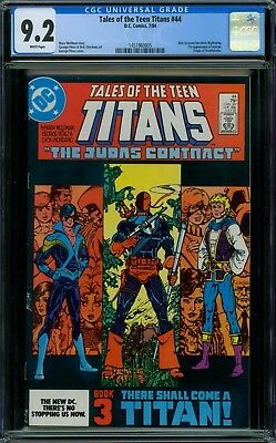 Tales of the Teen Titans 44 CGC 9.2 - White Pages - No Reserve Auction
