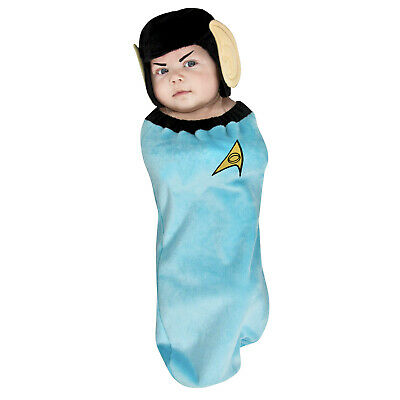 Spock Newborn Infant Halloween Costume Swaddle Star Trek Vulcan Ears Family Baby
