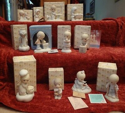 Vintage Precious Moments Lot Of 12 w/Boxes- The Early Years; 1979-1988; Mint