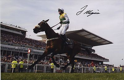 Jason Maguire winning the 2011 Grand National on Ballabriggs Signed Photograph.