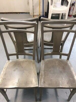 Aluminum dining chairs /Emeco/Good Form type (Set of 4)