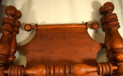 EARLY AMERICAN 19TH C CANNON BALL TWIN ROPE BED: Lot 152A