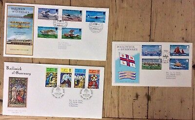 3 COMMEMORATIVE COVERS FROM GUERNSEY 1970s