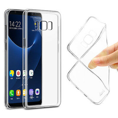 For Samsung S8 Plus Thin Transparent Slim Silicone Soft Clear TPU Case Cover