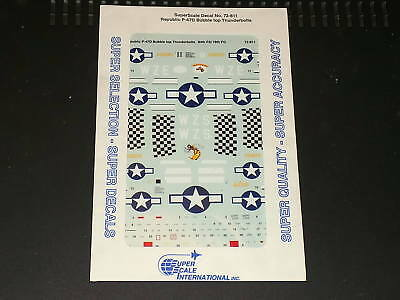 Xtradecal Decals 72811 1/72 Republic P-47D Bubble Top Thunderbolts