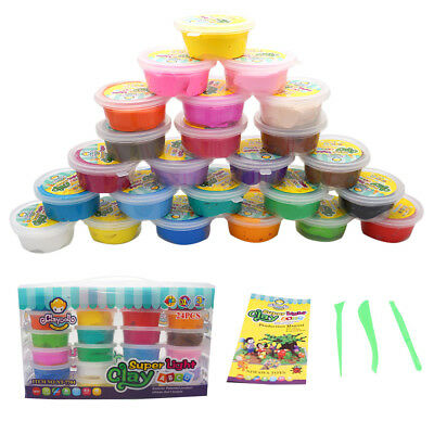 24 Color Super Light Clay Air Drying Soft Polymer Modelling Clay Gift set
