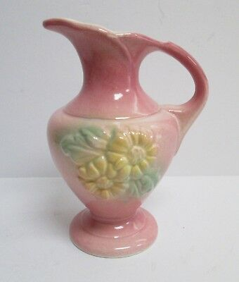 Hull Pottery Small Pitcher, Vase, Ewer Sunglow Pattern 1940's Vintage 90 51/2