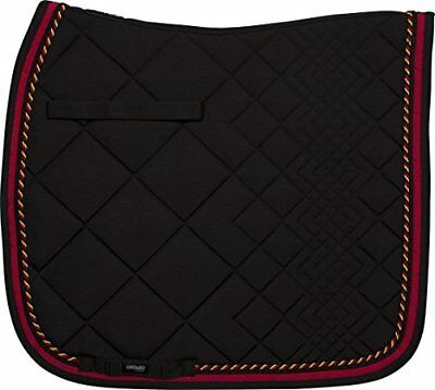 CATAGO Diamond serie Dr. 17 Saddle Pad, Unisex, Diamond Series Dr.17, negro/roj