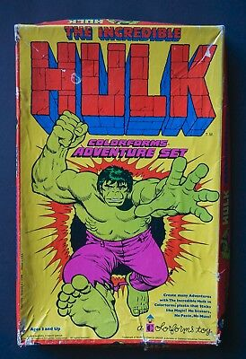 1978 Marvel The Incredible Hulk Colorforms Adventure Set Complete Original #634