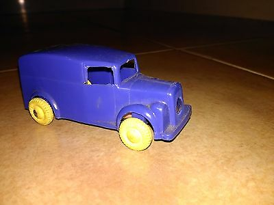 Rare Palitoy With Light 1950 Plastic Toy Transport Lorry Van Made In England