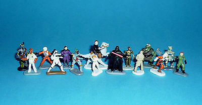 STAR WARS Micro Machines - SPECIAL FIGURES lot - Darth Vader Boba Fett Han Solo