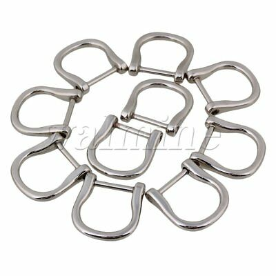 10PCS 1.8cm Inside Dia Silver Zinc Alloy D Ring Buckle Craft Bag Belt