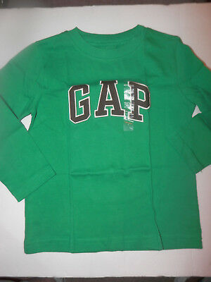 NWT- Long Sleeve GAP Logo Shirt-Green With Black Lettering--Size 3T
