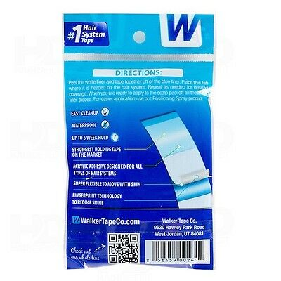 Walker Tape Ultra Hold Mini Tabs Strips Lace Wig Toupee Hair Replace 72 PCS UK