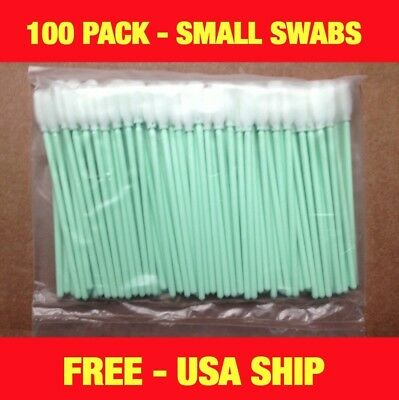 USA SHIP- 100 pcs SMALL Foam Solvent Cleaning swabs - Roland Mimaki Epson