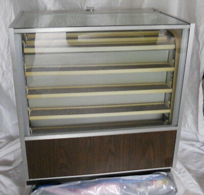 1970s Vintage Berg Lighted Rotating Display Cabinet  Coins/Jewelry/1/43 scale