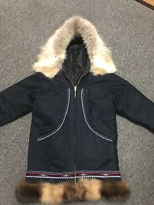 Alaskan Inupiat parkey fur coat
